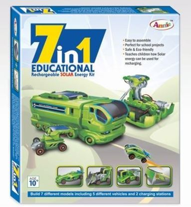 Picture of Annie 7 in 1 Educational Rechargable Solar Energy Kit Series - 1 (Multicolor)