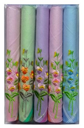 Picture of Sofil Embroidery C Handkerchief (Pack of 5)
