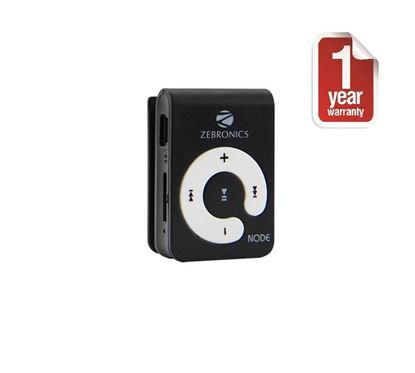 Picture of Zebronics Node MP3 (Black) media player with Card reader and Earphone